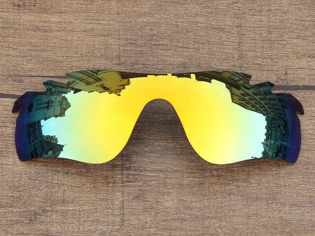 Polycarbonate-24K Oro Espejo Marco de Lentes de Repuesto Para Sendero Radarlock Sunglasses Ventilados 100% UVA y Uvb