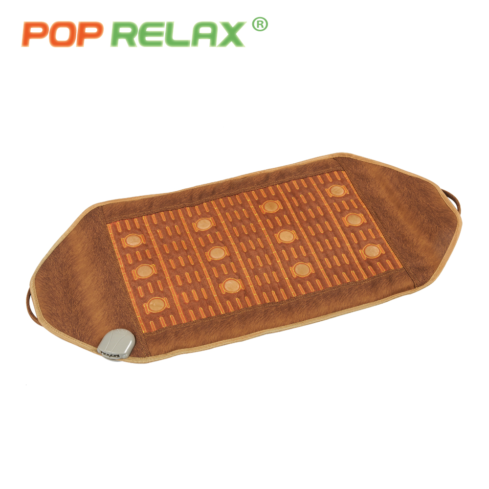 POP RELAX 110V Jade massage mat far infrared physical therapy thermal electric heating therapy health care jade stone mattress pop relax health products electric prostate massage for men handhend infrared heating therapy device 3 balls jade stone massager
