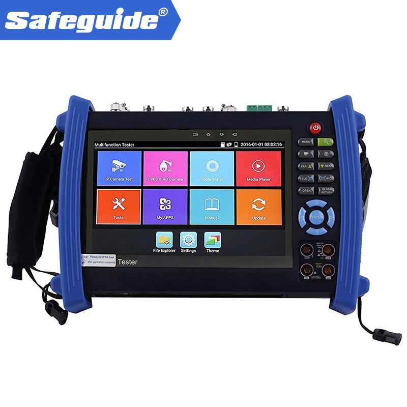 IPC-8600plus Series IP CCTV Tester Monitor Ip Analog AHD TVI CVI SDI Camera Tester H.265 4K 4MP 5MP ONVIF Wifi POE 12V