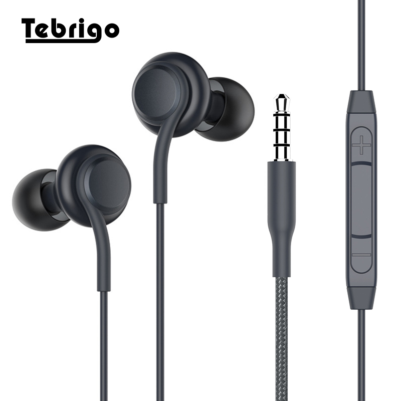 3.5mm jack In-ear Earphones Super Clear Ear Buds Low Bass Earphone Noise isolating Earbud Headset With Mic For iPhone Samsung s8 tebaurry tb6 dual unit driver earphone wired hifi stereo earphone for phone iphone 4 speakers super bass headset with microphone