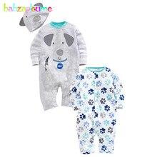 babzapleume spring autumn newborn baby girls boys clothes cute jumpsuit 100 cotton rompers hats infant clothing