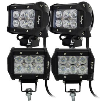 4pcs 4 inch led driving lights 6pcs*3W SUV UTE 4X4 OFFROAD CAR BOAT TRUCK 24v driving lights spot led light bar 18w