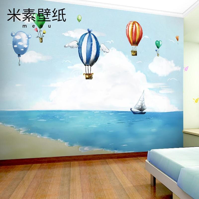 2017 Promotion Sale De Parede Papier Peint Pintado T M 3d Sea View Mural Large Custom Cartoon Children's Room Wall Wallpaper
