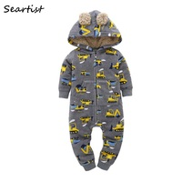 Seartist 2019 Hooded Fleece Jumpsuit Baby Boy Clothes Newborn Long sleeved Romper Baby Clothing One Piece Bebes Body Suit 48