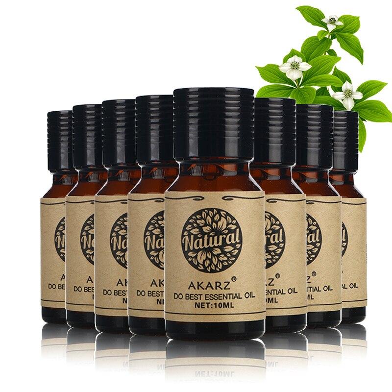 Refeições de valor AKARZ Famosa marca Lotus Sândalo Patchouli Lavanda da árvore do Chá de Jasmim Subiu Óleos essenciais de Hortelã 10 ml * 8