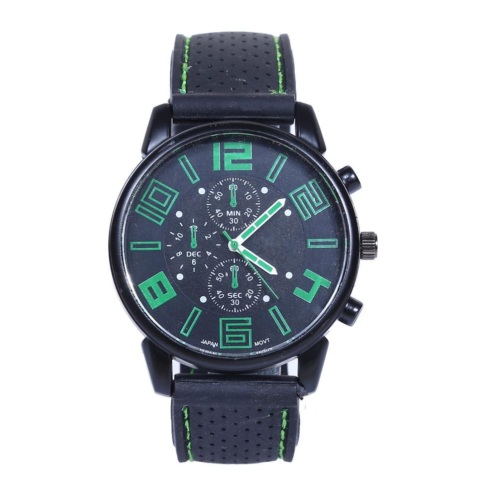 Men's Watch Sport Cool Line Quartz Analog Wrist Watches Hours Minutes Seconds Fashion Man Clock Relogio Masculino Dropship F509
