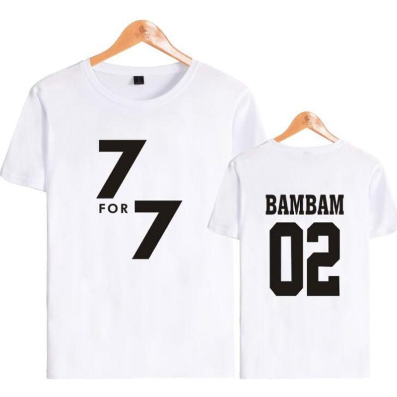 Korean K POP KPOP GOT7 BAMBAM YUGYEOM JACKSON JB JR MARK YOUNGJAE Short Sleeve T Shirt Women Tshirt Tee Shirt Couple Clothes 4XL