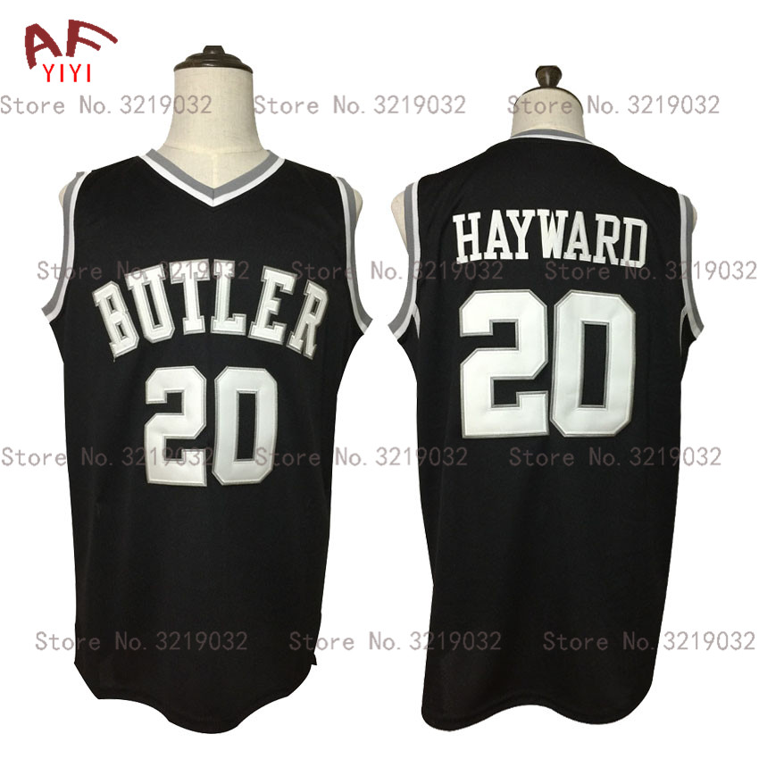 AIFEIYIYI New Gordon Hayward Throwback Basketball Jersey 20 Butler Bulldogs College Jersey Black Stitched Retro Mens Shirts michael jordan jersey 23 north carolina tar heels basketball jersey throwback men s college jersey sport shirt all stitched
