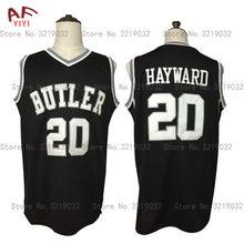 6febb4b2a AIFEIYIYI New Gordon Hayward Throwback Basketball Jersey 20 Butler Bulldogs College  Jersey Black Stitched Retro Mens Shirts