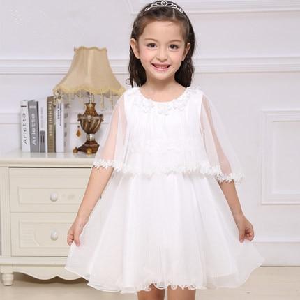 latest girls bridesmaid dresses white shrug flower little girl prom