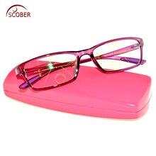 SCOBER = прогрессивные Мультифокальные очки для чтения, фиолетовый квадрат TR90, сверхлегкие супер сильные очки для чтения, близкий и Дальний Топ, от 0 до+ 1 до+ 4