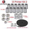 3D-принтер Reprap I3 Комплект для перемещения GT2 Ременный шкив 608zz 624zz Подшипник шарикоподшипника LM8UU Линейный подшипник 5 x 8 Вал муфты prusa-i3 rework RepRap...