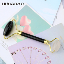 Clear Crystal Rollers Jade Beauty Massager Black Obsidian Stone Roller For