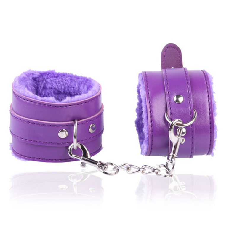 Flirting Sex Handcuffs BDSM Bondage Restraints PU Leather Hands Cuffs Slave Adult Games For Couples Foreplay Bondage Sex Toys