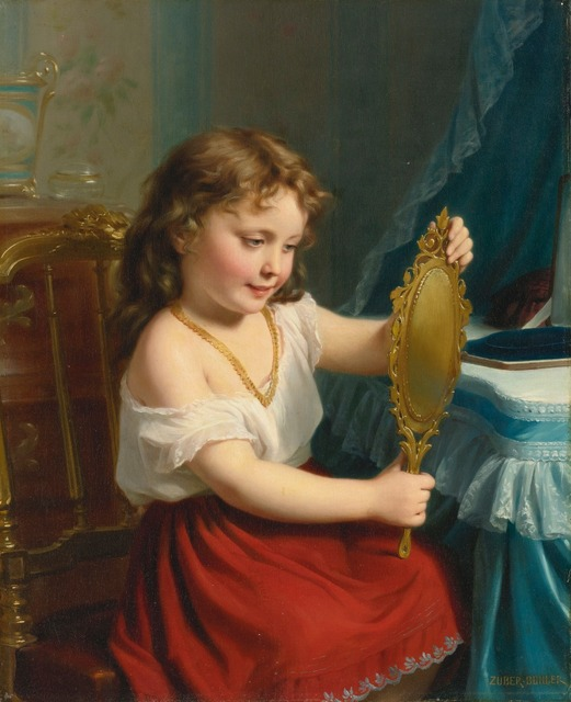 girl with a mirror