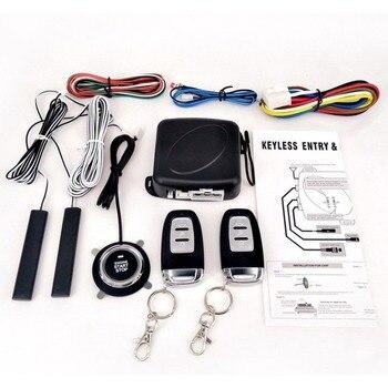 Passive Keyless Entry System PKE Engine Starter Push Button Vehicles Start/Stop Kit Safe Lock with 2 Smart Key