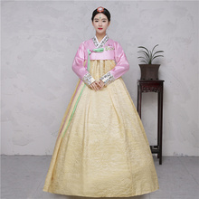 The traditional wedding palace lady daily performances of Korean hanbok clothing dance table costume show