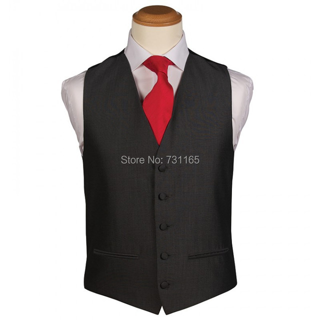 Black Waistcoat Men for Wedding Men Suits New Fashion 5 Buttons Slim Fit  Wedding Suit Vest