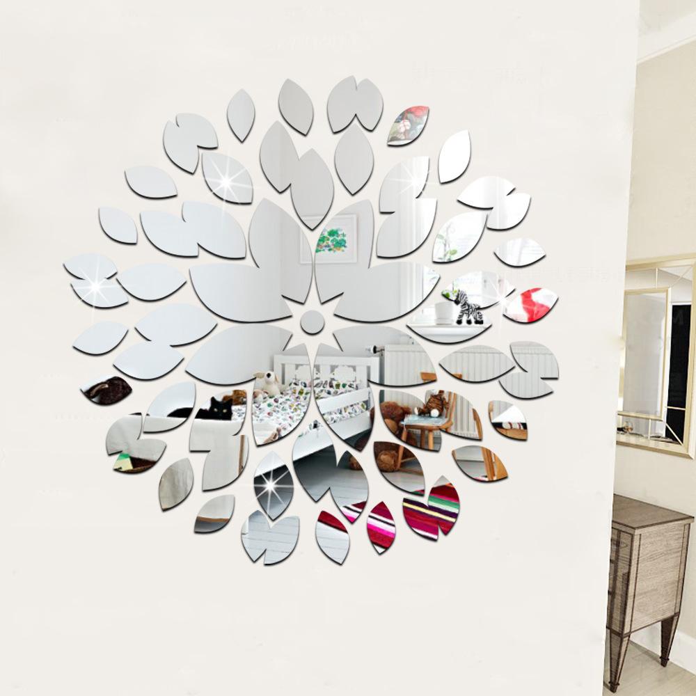espejo decorativo pegatinas de pared x pulgadas de plata de techo ecolgico d