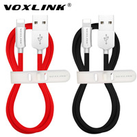 VOXLINK Nylon Braided USB Cable For Iphone 7 Plus 1m 2m 3m Fast Charging Sync Data