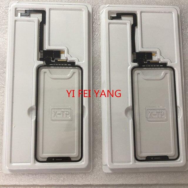 (All ios Pass) 1pcs/5pcs For Apple iPhone X  Xsmax No Welding Touch Screen + OCA Digitizer Front Glass Lens Outer Panel Flex
