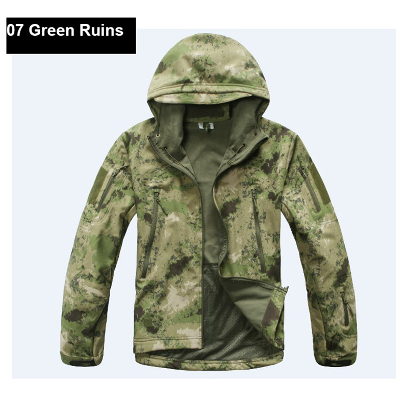 2018 Outdoor Hunting Jacket Coat Water-resistant Luker TAD Shark Skin Soft Shell Hoodie Shirt Tactical Camping Hiking Clothing