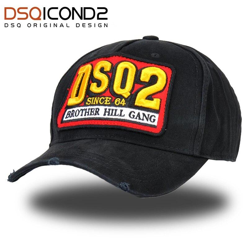 DSQICOND2 Brand DSQ   Baseball     Cap   for Men Women ICON Snapback Hat Embroidery Cotton Letter Hat Casquette Dad   Cap   DSQ2 Bone Garros