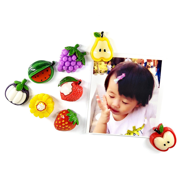 1pc Fruit Mangosteen Carambola Fridge magnet whiteboard sticker Resin Refrigerator Magnets child Home DIY Decoration Accessories 2