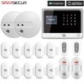 Smarsecur домашняя охранная сигнализация Wi-Fi APP контроль Беспроводная GSM/SMS Домашняя GSM домашняя сигнализация