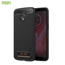 MOFi For Motorola Moto Z3 Play Case Cover Carbon fiber Soft Silicone Back Phone Cases