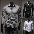 Free Shipping 2015 Hot Mens Shirts,Men's dress Shirts,Men's Casual Fit Stylish long-sleeved Shirts Size:M-XXXL