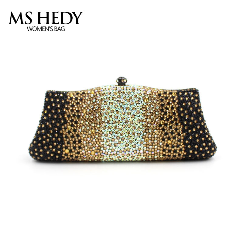 Gradual Change Colours Full Of Rhinestone Refinement Lady For Party and Wedding Evening Clutch Bags Womens Designers Purses lady of magick