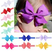 baby headbands headwear girls bow knot hairband head band infant newborn Toddlers Gift tiara hair accessories clothes(China)