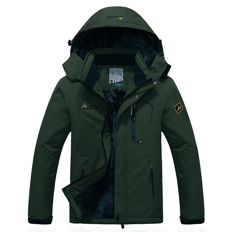 Spring&Winter Softshell Waterproof Jackets,Outdoor Men's Fleece Windbreaker Ski Camping Hiking Jackets,Military Tactical Outwear