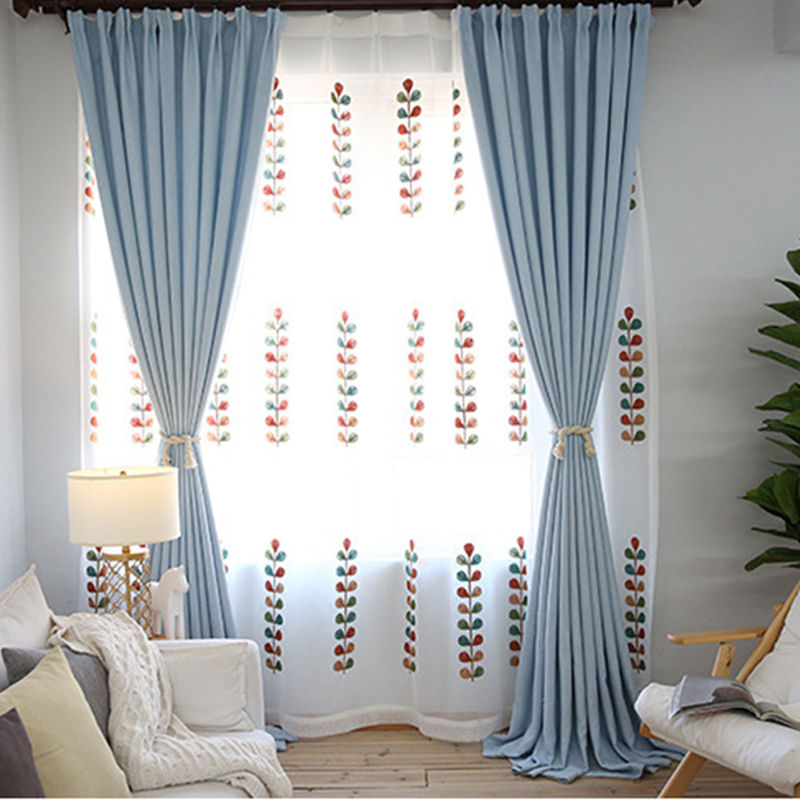 simple style pink linen cloth room decor curtains window drapes