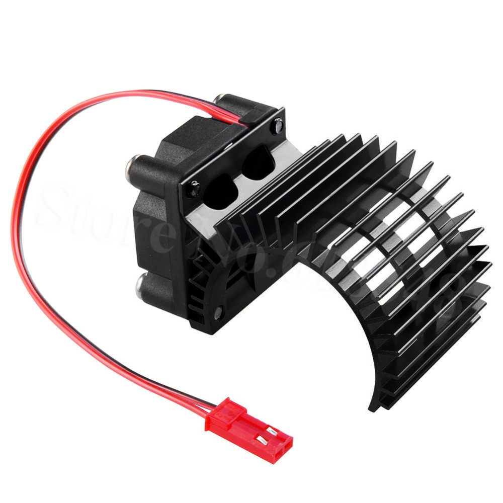Brushless <font><b>Motor</b></font> Heatsink with Cooling <font><b>Fan</b></font> RS540 550 <font><b>540</b></font> Size 4.8-6v Electric Engine Heat Sink For RC Car Truck Buggy Crawler image