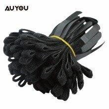 100 шт. нейлоновые стяжки с крепежом для проводов, кабельный ремень, инструмент для управления петлей, черный Кабельный Шнур, стяжной ремень, крючок, ленточный намоточный провод, аккуратный Органайзер