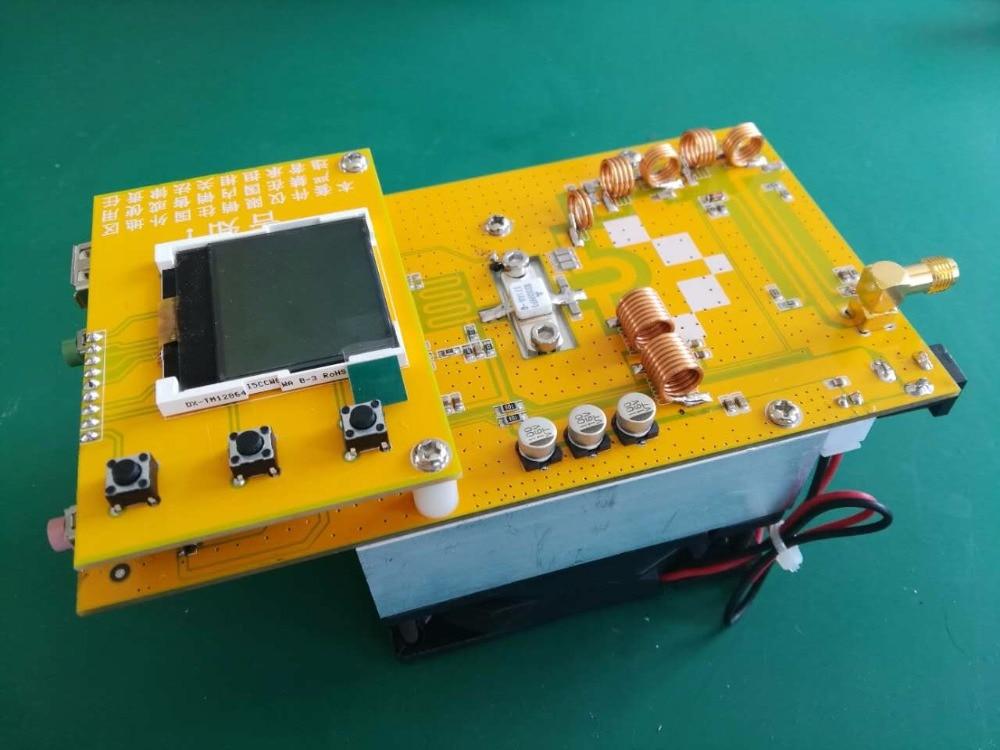2018 New 12V 76M-108MHz 30W Digital LED Radio Station  PLL Stereo FM Transmitter  With Heatsink Fan
