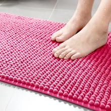 Thicken Chenille Bathroom Mat Non-slip Bath Carpets Quick Absorption Drying Doormat Bathtub Floor Towel Rugs