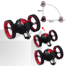 2.4G RC ugráló autó ugráló LED világító zene Automatikus kiegyenlítés Álló gyaloglás Távirányító Robot autó játékok Ajándékok gyerekeknek