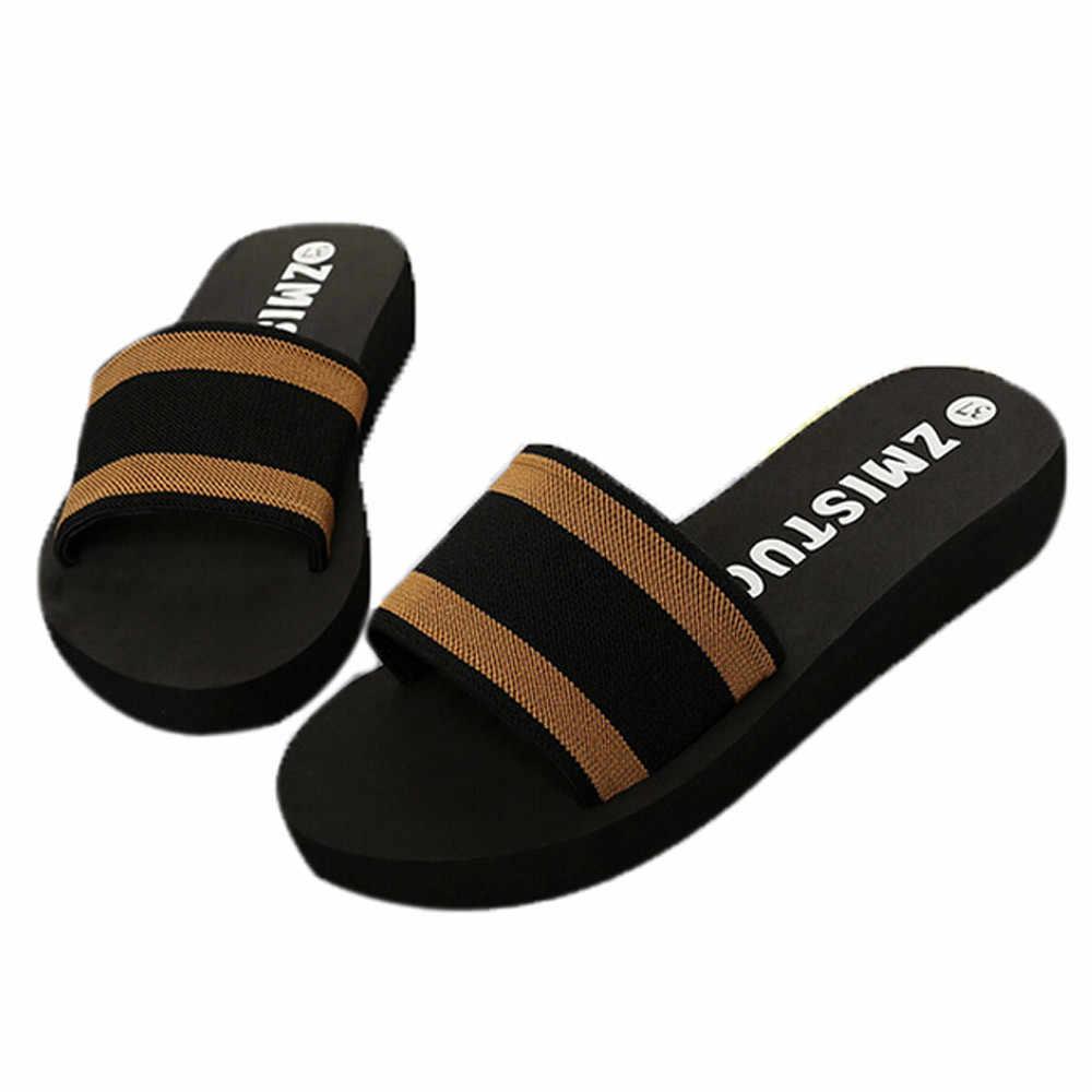 Yaz kadın ayakkabı platformu banyo terlikleri kama plaj Flip flop terlik ayakkabı bayanlar ayakkabı ve sandalet 2.82