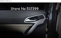 4pcs ABS Matte Interior Door handle Bowl Cover Trims Detector car styling For MG GS 2015 2016 2017