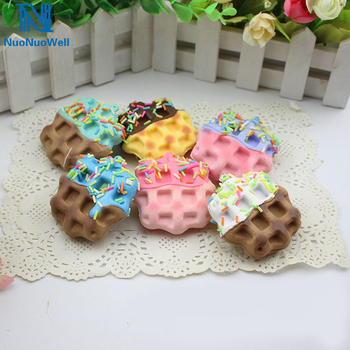 NuoNuoWell 10pcs-Pack 6x6 cm Squishy Slow Rising Food Model Artificial Cookie Cake PU Foam DIY Kitchen Dessert Mixed Type