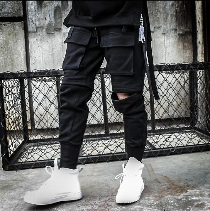 Saku Kepribadian Fashion Dua Memakai Celana Harem Mens Celana Kaki Celana Untuk Pria Pantalon Homme Hombre Pantalones Hitam Novelty Celana Kasual Aliexpress