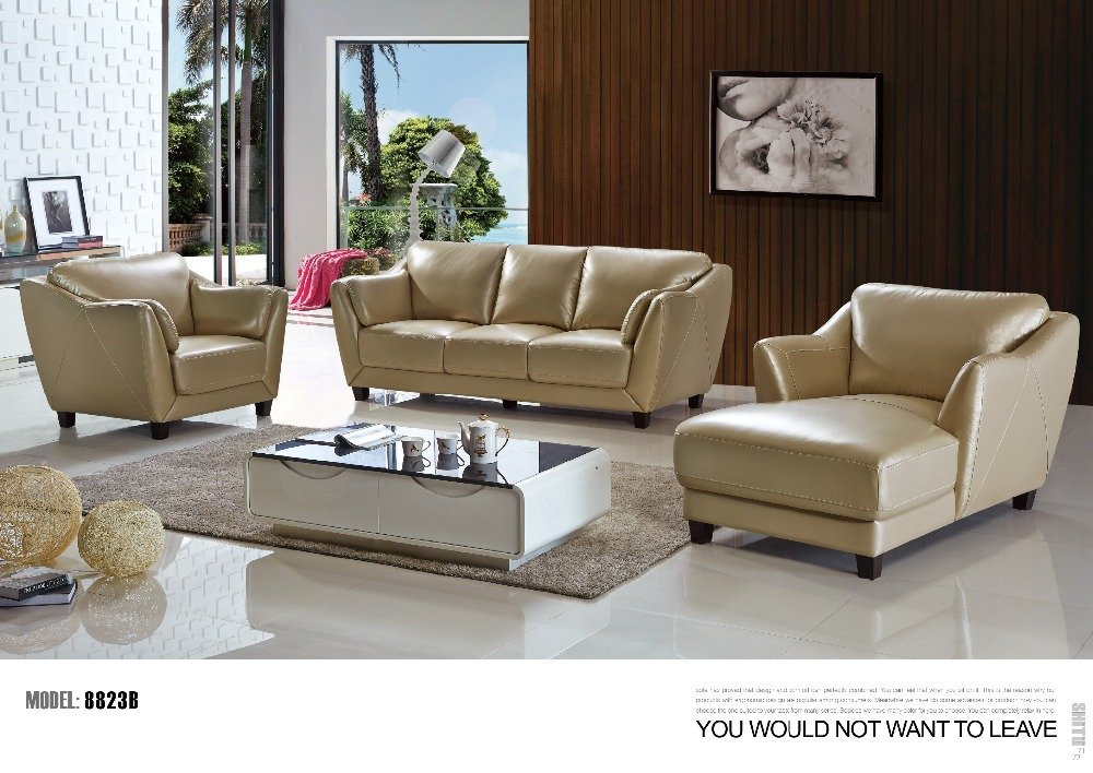 modern living room leather sofa set genuine leather pvc