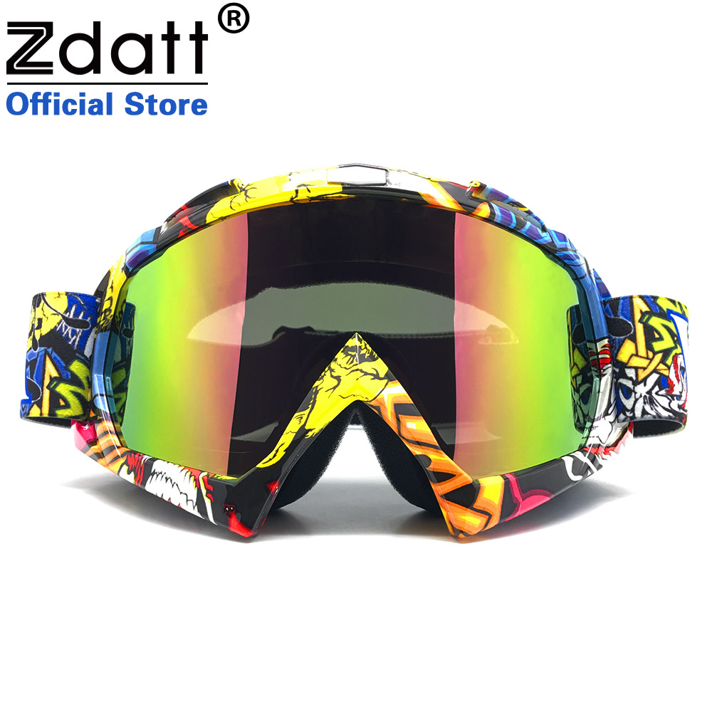 Zdatt Professional Vuxen Motocross Glasögon Dirt Bike ATV Motorcykel Glasögon Skidglas Motor Gafas UV Protection Motocross