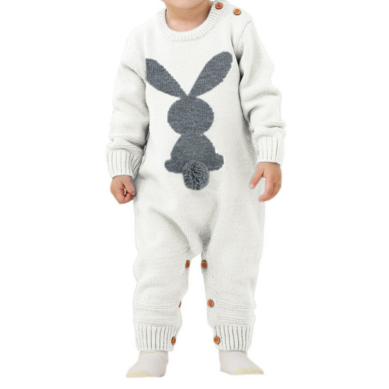Baby Rompers Set Newborn Rabbit Baby Jumpsuit Overall Long Sleevele Baby Boys Clothes Autumn Knitted Girls Baby Rompers Set Newborn Rabbit Baby Jumpsuit Overall Long Sleevele Baby Boys Clothes Autumn Knitted Girls Baby Casual Clothes