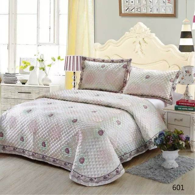 Aliexpress.com : Buy 3pc/set Jacquard Quilted Bedspreads, Size ...