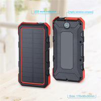 Solar waterproof 30000mAh mobile power supply for iPhone Huawei Type C PD fast charging fast charging 3.0 USB Powerbank battery