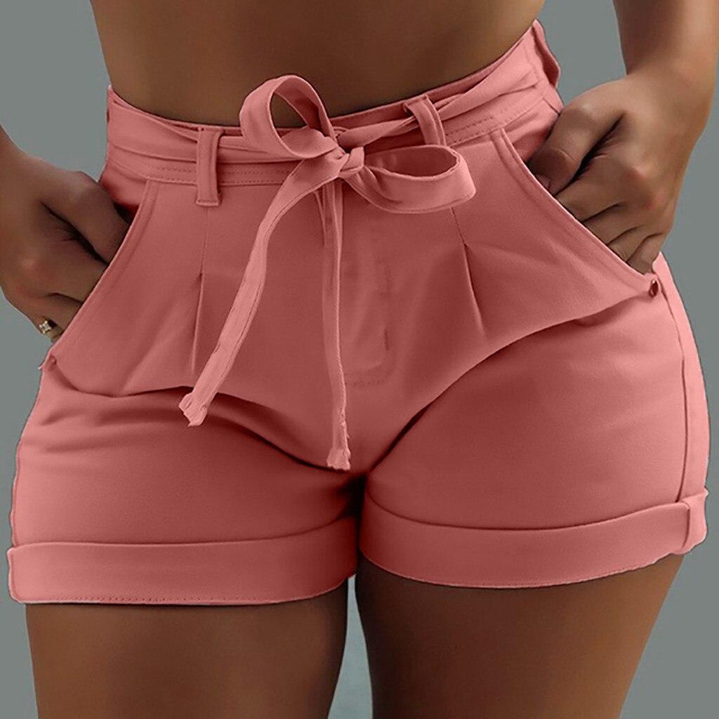 High Waist Hot Ladies Shorts Women Summer Short Jeans Bandage Plus Size Lady Office Black Booty Workout Denim Spodenki Damskie